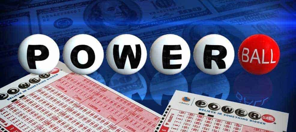 Logo of powerball and tickets