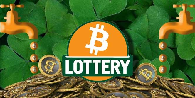 Bitcoin lottery jackpot logo