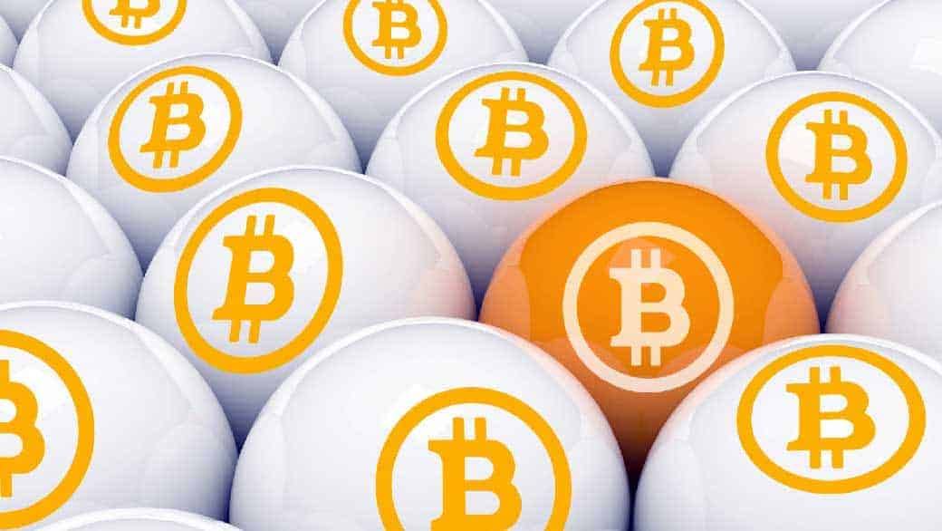 bitcoin lottery logo on lotto balls