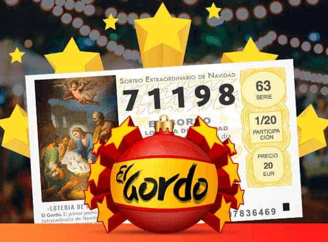 El gordo logo with a ticket