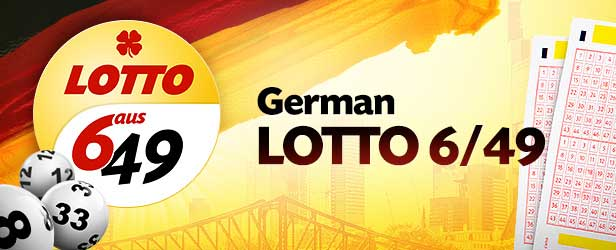 German lotto 6/49 banner