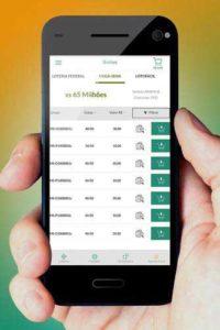 Mobile play of Mega-sena lotto