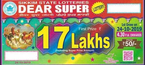 a Dear super skkim state lottery ticket