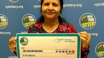 Indian woman with powerball prize