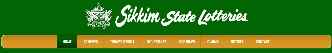 Sikkim state lottery result page