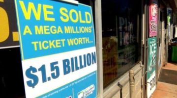 sign that says 1.5 billion mega millions ticket sold