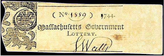Single numbers lottery ticket