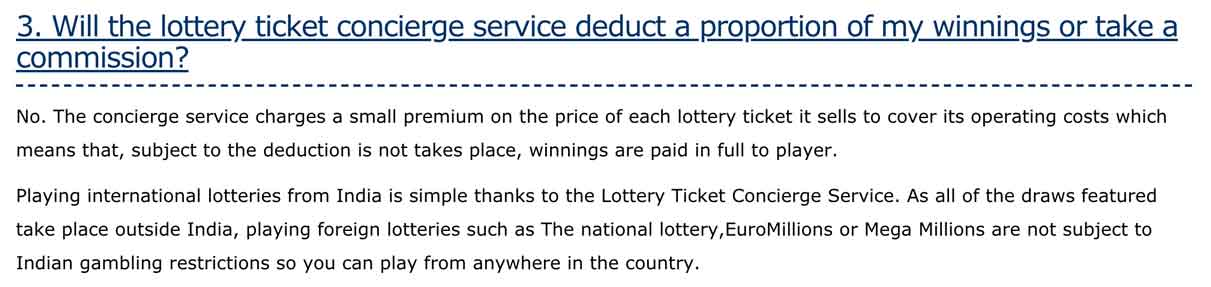 Explanation that bahgyalakshmi is a lottery ticket concierge service