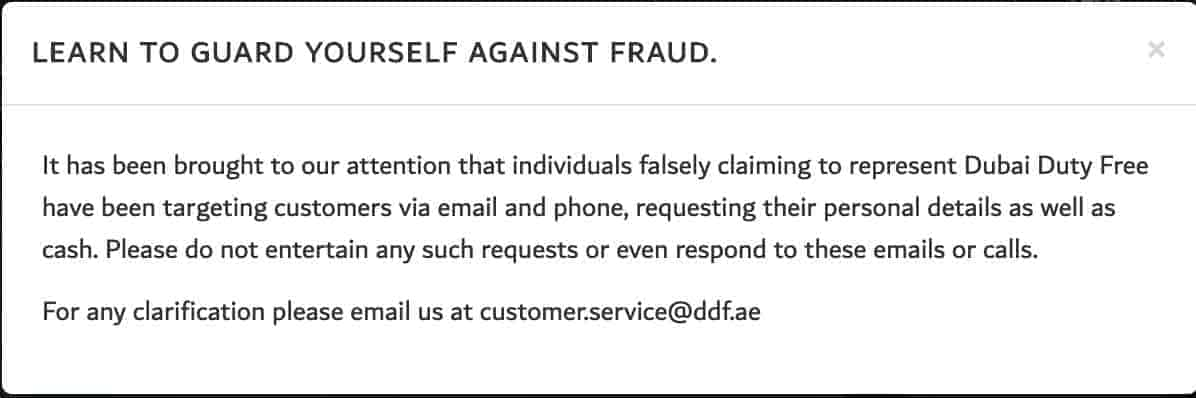 Fraud message from dubai lotto