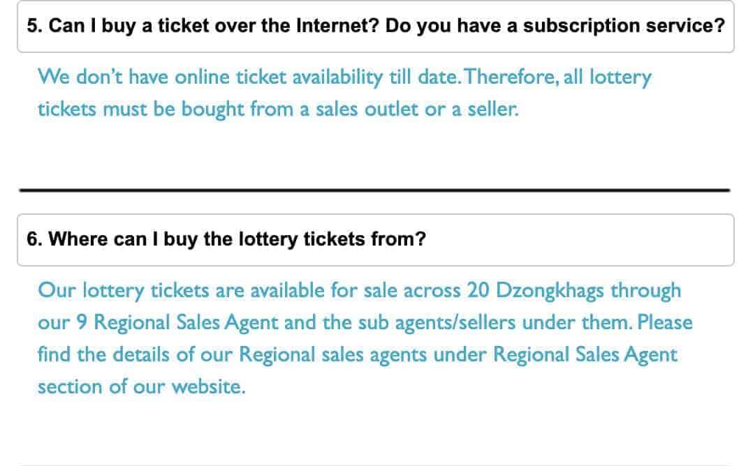 bhutan lottery FAQ