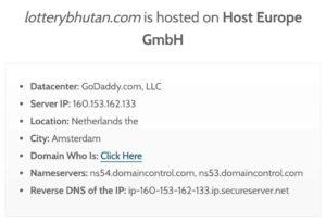 bhutanlottery.com server location