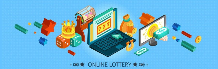 carton of different online lottery pictures