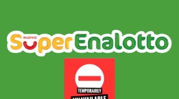Superenalotto temporarily closed