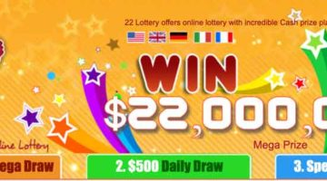 homepage of lottery 22