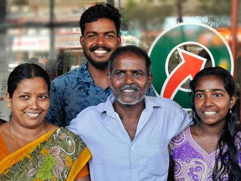new year bumper lottery winner 2020 with family