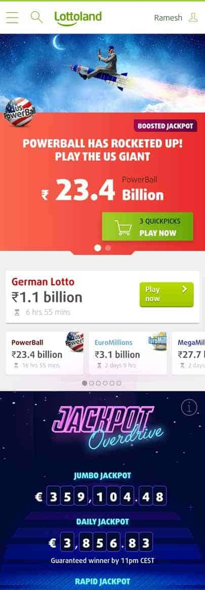 Lotto Land App