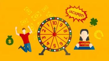 jackpot lottery cartoon