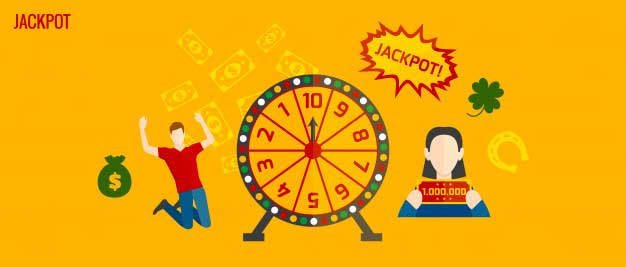 jackpot lottery cartoon