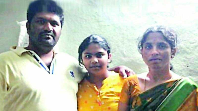 indian big ticket winner with daughter and wife