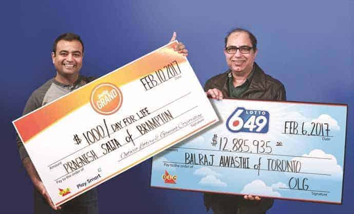 lucky indian players win canadian lotteries