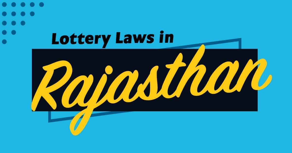 lottery laws in rajasthan